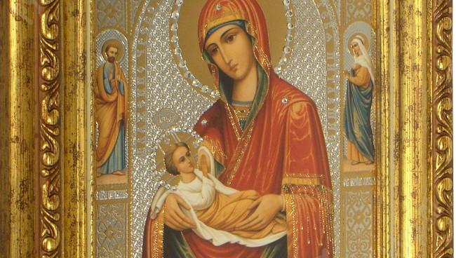 Блаженное чрево икона Божией Матери