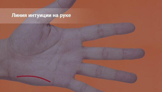 Линия интуиции на руке: фото с расшифровкой