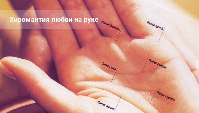 Линии любви на руке - хиромантия