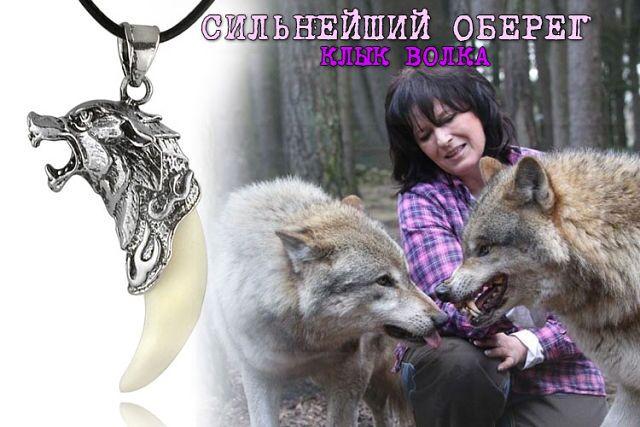 Амулет клык и зуб волка