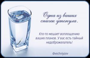 гадание на спичке и стакан воды