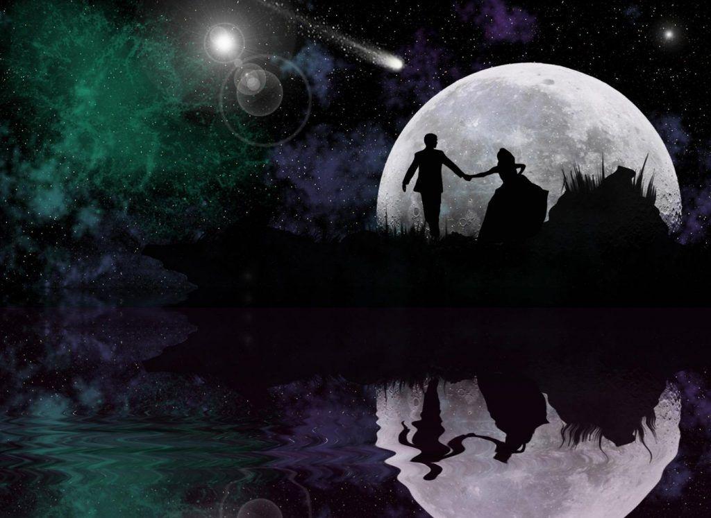 любовь на фоне луны