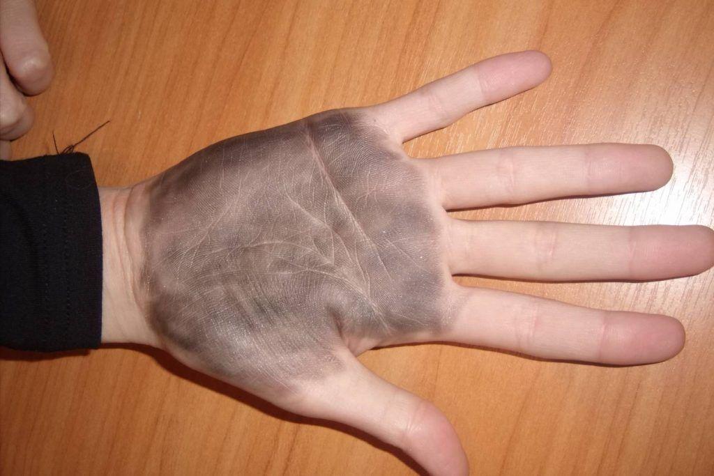 рука подгтовленная для гадания