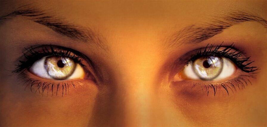таинственный женский взгляд