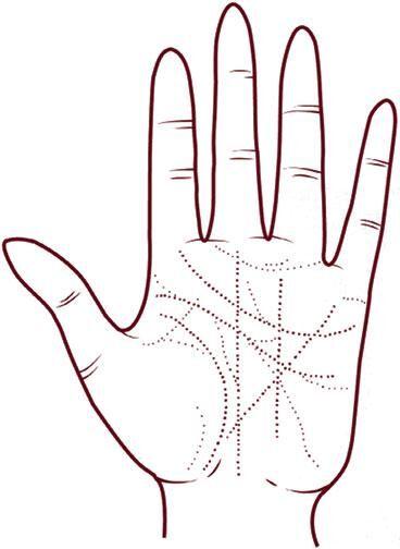 Эмоциональная рука вся испещрена мелкими линиями