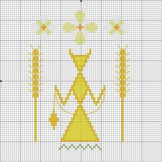 Макошь - схема для вышивки