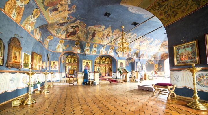 Внутреннее убранство Новоспасского мужского монастыря