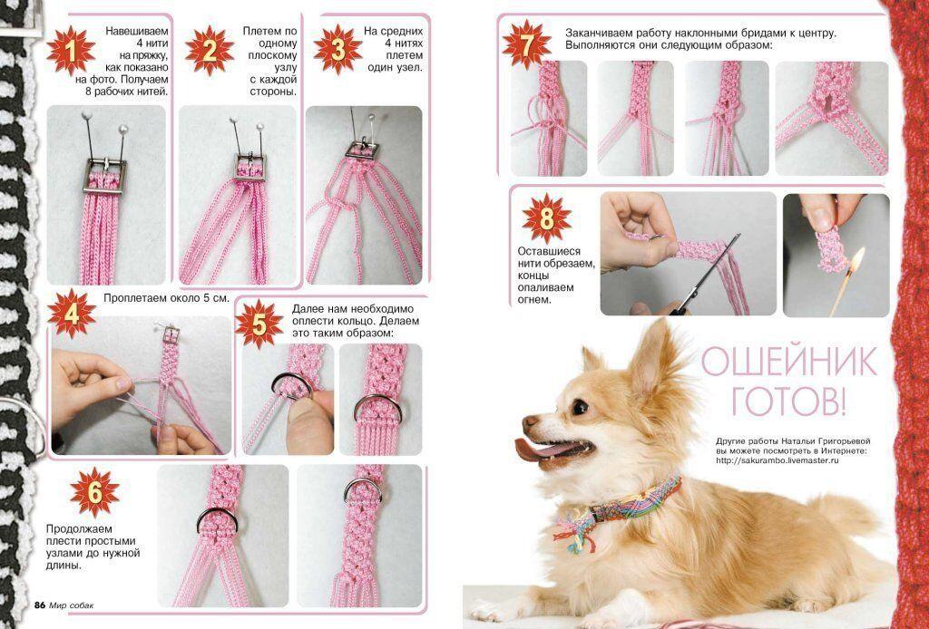 Ошейник-оберег для собак - схема
