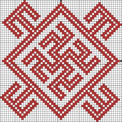 Родимич - схема для вышивки