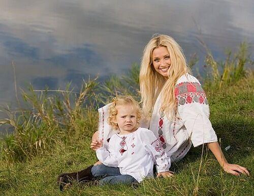 Славянка с ребенком