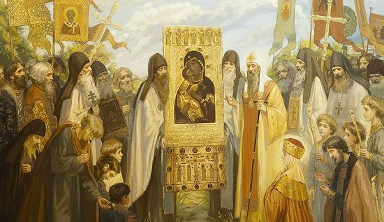 Всеобщая молитва перед образом Богоматери Владимирская