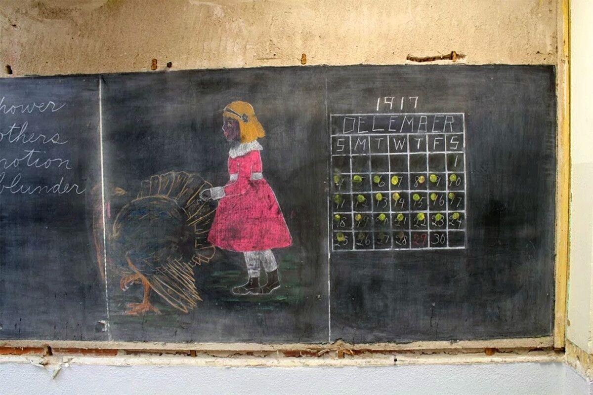 Гадание на школьной доске