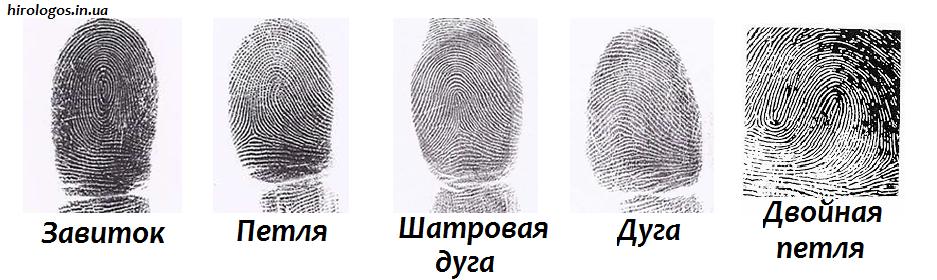 Виды отпечатков