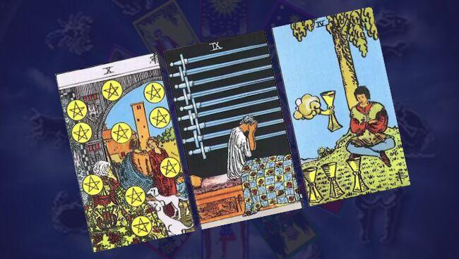 Гадания Таро на отношения: 3 карты