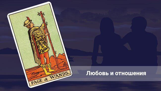 Значение Пажа Жезлов Таро в любви