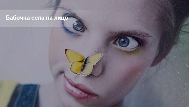 Бабочки садятся на человека ― примета