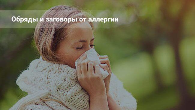 Заговоры от аллергии: читать на фото